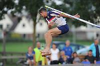 FIERLJEPPEN: IJLST: 19-08-2015, Fryslân Cup IJlst, ©foto Martin de Jong