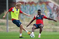 Getafe CF's Johannes Van den Bergh (l) and Djene Dakoman during training session. August 1,2017.(ALTERPHOTOS/Acero) /NortePhoto.com