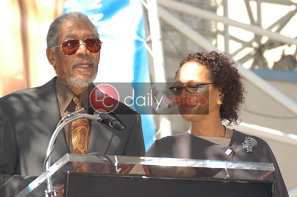 Morgan Freeman and wife
