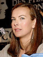 Montreal, 1999-08-30.Carole Bouquet, press conference at Montreal World Film Festival<br /> <br /> Carole Bouquet (born 18 August 1957) is a French actress and fashion model. Bouquet was born in Neuilly-sur-Seine, France.<br /> <br /> She is best known internationally as Bond girl Melina Havelock in the 1981 movie For Your Eyes Only, although she featured in a number of mainstream European films throughout the 1980s and continued to do so up until 2005 in France.<br /> <br /> She is also recognized for her work in Luis Bu&ntilde;uel's surrealist classic That Obscure Object of Desire (1977), and in the internationally successful film Too Beautiful For You (1989).<br /> <br /> Bouquet was a model for Chanel in the 1990s. She is the widow of producer Jean-Pierre Rassam with whom she had a son, Dimitri Rassam. From 1997 to 2005, she dated actor Gerard Depardieu, with whom she had worked several times. Bouquet was engaged to him from 2003 to 2005.