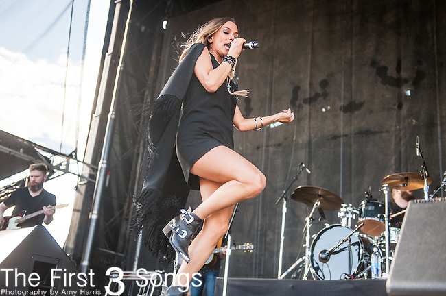 Jana Kramer performs during the 4th Annual ACM Party for a Cause Festival at the Las Vegas Festival Grounds in Las Vegas, Nevada.