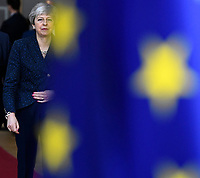 Theresa May - Premier ministre britannique <br /> Bruxelles 19-03-2019 <br /> Summit Unione Europea su Brexit <br /> Foto Photonews/Panoramic/insidefoto<br /> ITALY ONLY