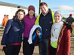 Ciara Liffey, Tina and Eamon Maguire and Lorna Kane the Wild Goose Lodge run at Westerns GAA Club Reaghstown. Photo:Colin Bell/pressphotos.ie