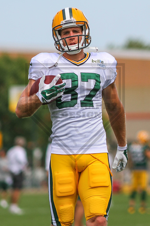 GREEN BAY - August 2014: Jordy Nelson (87) of the Green Bay Packers during a training camp practice on August 25th, 2014 at Ray Nitschke Field in Green Bay, Wisconsin.  (Photo Credit: Brad Krause)