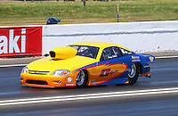 Jun. 1, 2013; Englishtown, NJ, USA: NHRA pro stock driver Kenny Delco during qualifying for the Summer Nationals at Raceway Park. Mandatory Credit: Mark J. Rebilas-