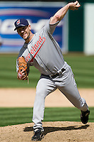 6 April 2008: Indians' #31 Cliff Lee pitches during the Cleveland Indians 2-1 victory over the Oakland Athletics at the McAfee Coliseum in Oakland, CA.