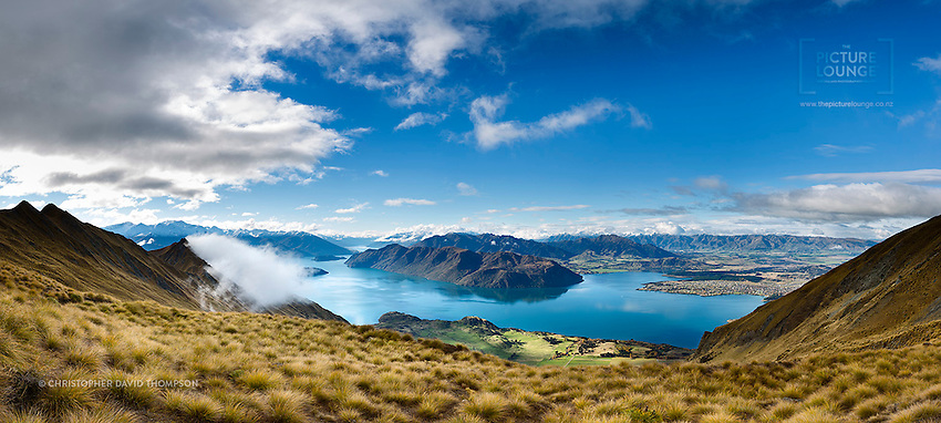 Wanaka is best viewed from on high, so for this shot Wanaka-based fine art landscape photographer Christopher David Thompson chose to climb Roy's Peak, a great spot to watch the sun go down - and provides amazing views of the lake and township...