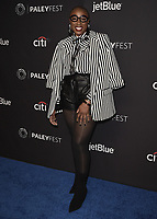 "HOLLYWOOD, CA - MARCH 17:  Aisha Hinds at the PaleyFest 2019 - Fox's ""9-1-1"" red carpet at the Dolby Theatre on March 17, 2019 in Hollywood, California. (Photo by Scott Kirkland/Fox/PictureGroup)"