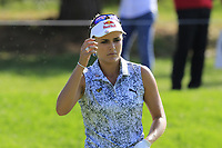 Lexi Thompson (USA) on the 12th green during Friday's Round 2 of The Evian Championship 2018, held at the Evian Resort Golf Club, Evian-les-Bains, France. 14th September 2018.<br /> Picture: Eoin Clarke | Golffile<br /> <br /> <br /> All photos usage must carry mandatory copyright credit (&copy; Golffile | Eoin Clarke)