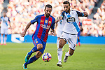 FC Barcelona's Arda Turan and Deportivo de La Coruna's Bruno Gama during the La Liga match between Futbol Club Barcelona and Deportivo de la Coruna at Camp Nou Stadium Spain. October 15, 2016. (ALTERPHOTOS/Rodrigo Jimenez)
