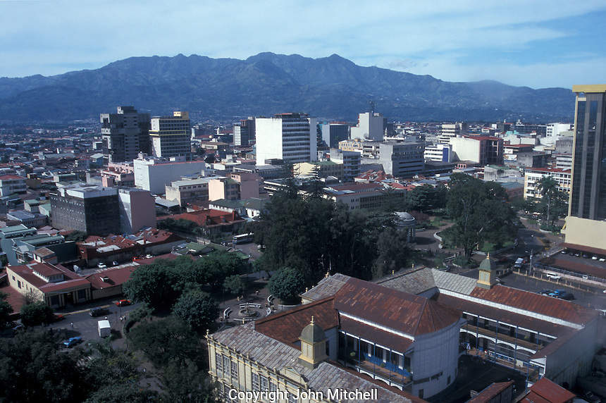 Skyline of downtown San Jose, Costa Rica, from above