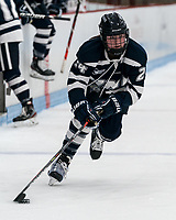 BOSTON, MA - FEBRUARY 16: Meghara McManus #24 of University of New Hampshire on the attack during a game between University of New Hampshire and Boston University at Walter Brown Arena on February 16, 2020 in Boston, Massachusetts.
