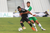Joaquin Esquivel of Mexico tries to shake off a challenge from Republic of Ireland's Adam Idah during Republic Of Ireland Under-21 vs Mexico Under-21, Tournoi Maurice Revello Football at Stade Parsemain on 6th June 2019
