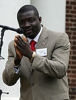Ehonam Miheaye Agbati of Togo remarked on his new found freedom through citizenship in America after being naturalized during the 45th annual Independence Day Celebration and Naturalization Ceremony held Wednesday July 4, 2007 at Monticello in Charlottesville, VA. Photo/Andrew Shurtleff