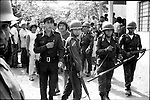 Mexican soldiers patrol the streets during municipality elections in Juchitan, Oaxaca, November 20, 1983.  © Photo by Heriberto Rodriguez