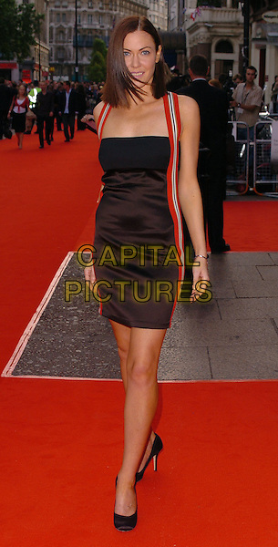 """LINZI STOPPARD.At the UK Premiere of """"The Lake House"""",.Vue West End, London, England, June 19th 2006..full length black dress red stripes straps .Ref: CAN.www.capitalpictures.com.sales@capitalpictures.com.©Can Nguyen/Capital Pictures"""