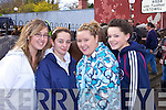 Enjoying the Annual Horse and Pony fair in Athea last Saturday morning was l-r: Nicole O'Sullivan(Athea), Clare O'Shea(Brosna), Laura quille and Amie Griffin(Athea).