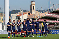 Scotland U21 players look on as Billy Gilmour scores his penalty in the end of the match shoot-out during Turkey Under-21 vs Scotland Under-21, Tournoi Maurice Revello Football at Stade Francis Turcan on 9th June 2018