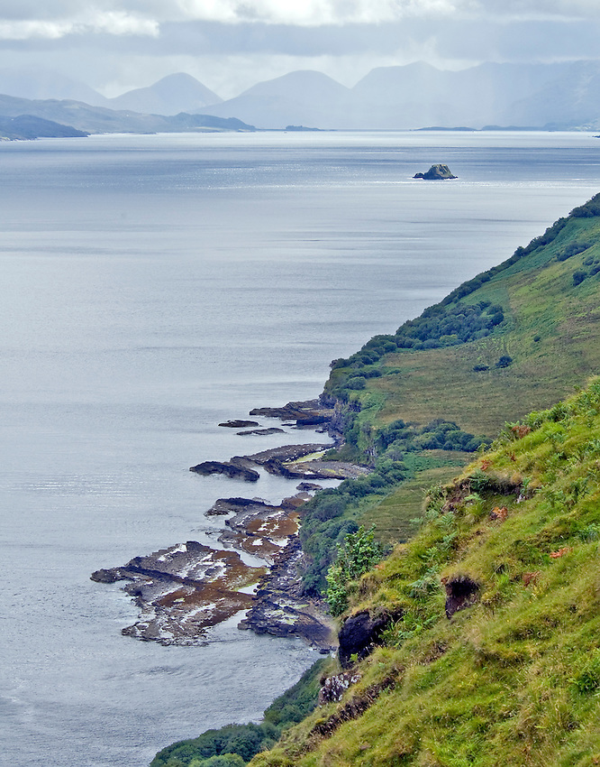 View of the east coast of the Isle of Skye, Scotland