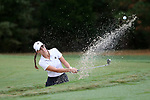 CHAPEL HILL, NC - OCTOBER 13: Vanderbilt's Virginia Green chips out of a bunker on the 11th hole. The first round of the Ruth's Chris Tar Heel Invitational Women's Golf Tournament was held on October 13, 2017, at the UNC Finley Golf Course in Chapel Hill, NC.