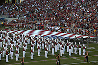 NWA Democrat-Gazette/MICHAEL WOODS &bull; @NWAMICHAELW<br /> University of Arkansas Razorbacks vs the Texas State Bobcats, Saturday, September 17, at Razorback Stadium in Fayetteville.
