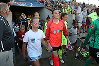 Cary, North Carolina  - Saturday August 05, 2017: Katelyn Rowland prior to a regular season National Women's Soccer League (NWSL) match between the North Carolina Courage and the Seattle Reign FC at Sahlen's Stadium at WakeMed Soccer Park. The Courage won the game 1-0.
