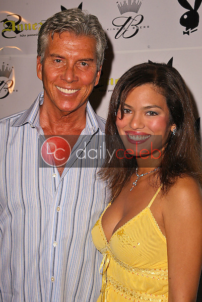 Michael Buffer and Christina Prado<br /> at the Playboy July 2005 Issue Release Party for Cover Model Joanna Krupa, Montmartre Lounge, Hollywood, CA 06-15-05<br /> David Edwards/DailyCeleb.Com 818-249-4998