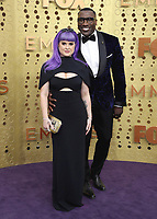 LOS ANGELES - SEPTEMBER 22:  Kelly Osbourne and Shannon Sharpe at the 71st Primetime Emmy Awards at the Microsoft Theatre on September 22, 2019 in Los Angeles, California. (Photo by Xavier Collin/Fox/PictureGroup)
