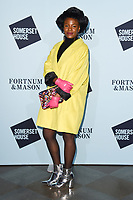 Shingai Shoniwa<br /> arriving for the Skate at Somerset House 2017 opening, London<br /> <br /> <br /> ©Ash Knotek  D3351  14/11/2017