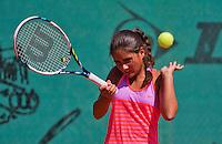 Netherlands, Dordrecht, August 03, 2015, Tennis,  National Junior Championships, NJK, TV Dash 35, Isabella Mujan<br /> Photo: Tennisimages/Henk Koster