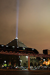 Luxor Pyramid at night in Las Vegas
