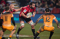 Crusaders captain Sam Whitelock during the 2019 Super Rugby final between the Crusaders and Jaguares at Orangetheory Stadium in Christchurch, New Zealand on Saturday, 6 July 2019. Photo: Joe Johnson / lintottphoto.co.nz