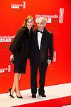 Brune de Margerie et Alain Terzian arrivent au Fouquets pour le repas après les César 2014, Restaurant le Fouquet's