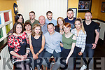 Sean Golden Killorglin who celebrated his 50th birthday with his family and friends in the Porterhouse restaurant Killarney on Saturday night