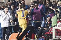 Bergamo 01-10-2017 Stadio Atleti Azzurri d'Italia Football Serie A 2017/2018 Atalanta - Juventus foto Daniele Buffa/Image Sport/Insidefoto <br /> nella foto: esultanza gol Gonzalo Higuain goal celebration with Andrea Barzagli