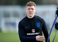 Alfie Mawson of England during the England National Team Training ahead of the international friendly match with Italy at Tottenham Hotspur Training Ground, Hotspur Way, England on 26 March 2018. Photo by Vince  Mignott.