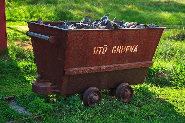 Gruvvagn från Utö gruva på Utö i Stockholms skärgård. / Mine cart from Utö on Utö in the Stockholm archipelago.
