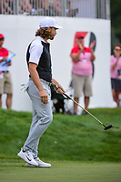 Tommy Fleetwood (ENG) follows his putt into the cup on 9 during Saturday's round 3 of the World Golf Championships - Bridgestone Invitational, at the Firestone Country Club, Akron, Ohio. 8/5/2017.<br /> Picture: Golffile | Ken Murray<br /> <br /> <br /> All photo usage must carry mandatory copyright credit (&copy; Golffile | Ken Murray)