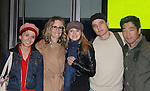 As The World Turns Trent Dawson stars in Maple and Vine on November 27, 2011 at Playwrights Horizons, New York City, New York. Pictures if the cast of Maple and Vine (L to R) Jeanine Serralles, Sarah Paulson (came to see play), Marin Ireland, Pedro Pascal and Peter Kim. (Photo by Sue Coflin/Max Photos)