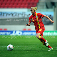 Parc y Scarlets, Llanelli, Dyfed, Wales-Saturday 15th Sept 2012-action from the Wales v Scotland Womens UEFA European Champ's 2013 qualifier-copyright of the images belong to Jeff Thomas Photography-www.jaypics.photoshelter.com-07837 386244-no downloading or copying of images is permitted.