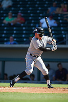 Glendale Desert Dogs third baseman Jake Peter (18) at bat during an Arizona Fall League game against the Mesa Solar Sox on October 14, 2015 at Sloan Park in Mesa, Arizona.  Glendale defeated Mesa 7-6.  (Mike Janes/Four Seam Images)