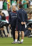 06 February 2008: U.S. assistant coach Dave Sarachan (l) with Peter Nowak (r). The United States Men's National Team played the Mexico Men's National Team to a 2-2 tie at the Reliant Stadium in Houston, TX in a men's international friendly soccer game.