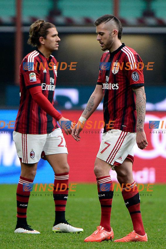 Alessio Cerci, Jeremy Menez Milan<br /> Milano 15-02-2015 Stadio Giuseppe Meazza - Football Calcio Serie A Milan - Empoli. Foto Giuseppe Celeste / Insidefoto