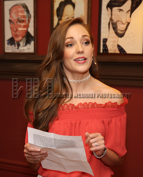 Laura Osnes during the Corey Cott Sardi's Portrait unveiling at Sardi's Restaurant on August 11, 2017 in New York City.