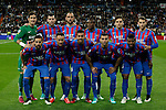Levante´s initial team players during La Liga match at Santiago Bernabeu stadium in Madrid, Spain. March 15, 2015. (ALTERPHOTOS/Victor Blanco)