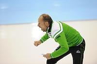 SCHAATSEN: HEERENVEEN: 25-10-2013, IJsstadion Thialf, NK afstanden, Gerard Kemkers, (trainer/coach), ©foto Martin de Jong