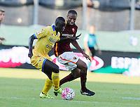 Raman Chibsah Seydou Keita  durante l'incontro di calcio di Serie A   Frosinone - Roma   allo  Stadio Matusa di   di Frosinone ,12  Settembre 2015