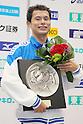 Kohei Yamamoto, September 4, 2011 - Swimming : Kohei Yamamoto celebrates wining victory during the Intercollegiate Swimming Championships, men's 1500m Free style medal ceremony at Yokohama international pool, Kanagawa. Japan. (Photo by Yusuke Nakanishi/AFLO SPORT) [1090]