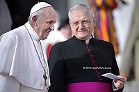 Pope Francis Monsignor Leonardo Sapienza during of a weekly general audience at St Peter's square in Vatican, Wednesday.November 27; 2019
