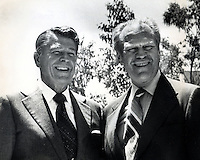 Ronald Reagan and Gerald R.Ford. (1976 photo by <br />